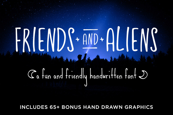 Introducing FRIENDS AND ALIENS Font!