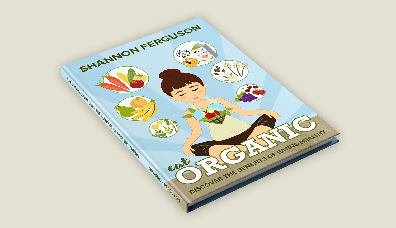 """Eat Organic"" Book Concept Mockup"