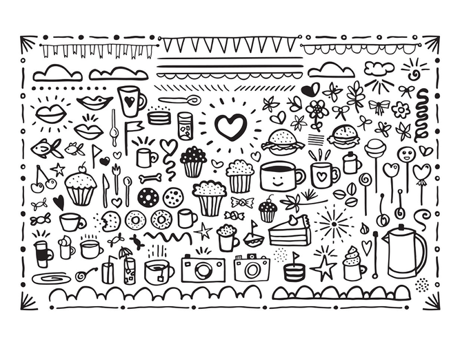 Coffee Date Font Bonus Graphics