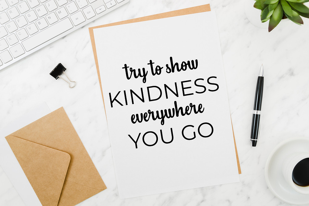 Try To Show Kindness Everywhere You Go Card Mockup
