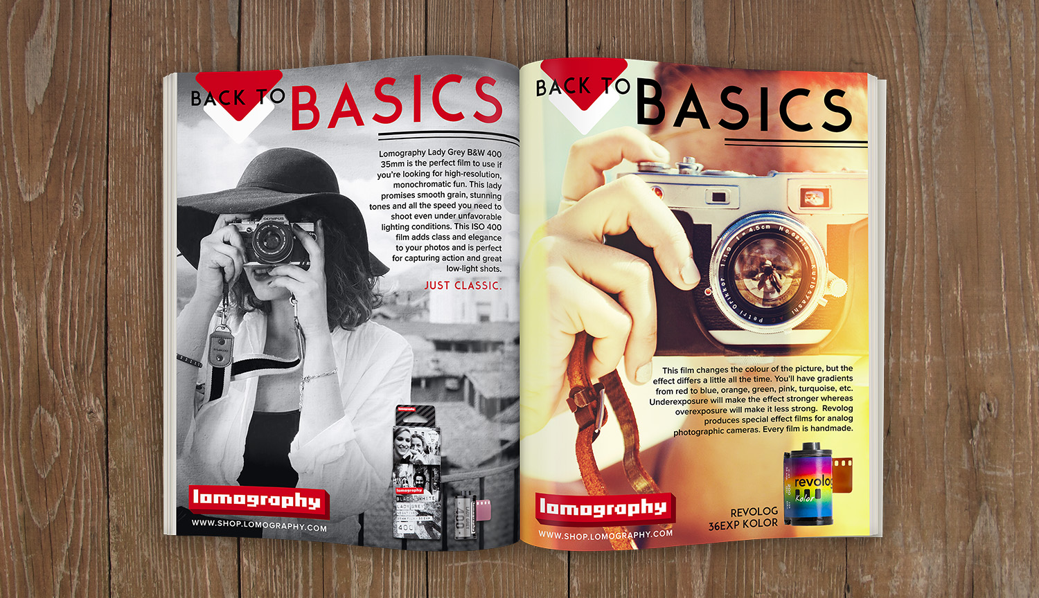 Magazine Mockup of Both Ads