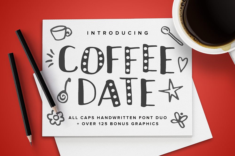 Coffee Date Font Duo!
