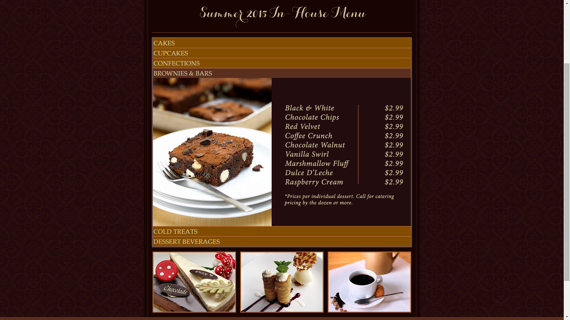 Website Menu Page