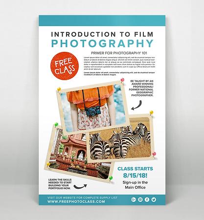 Sample of Large A4 Print Flyer Design Concept