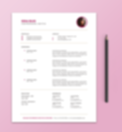 Example of Editable Resume Template for Word
