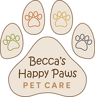 Becca's Happy Paws Pet Care Logo