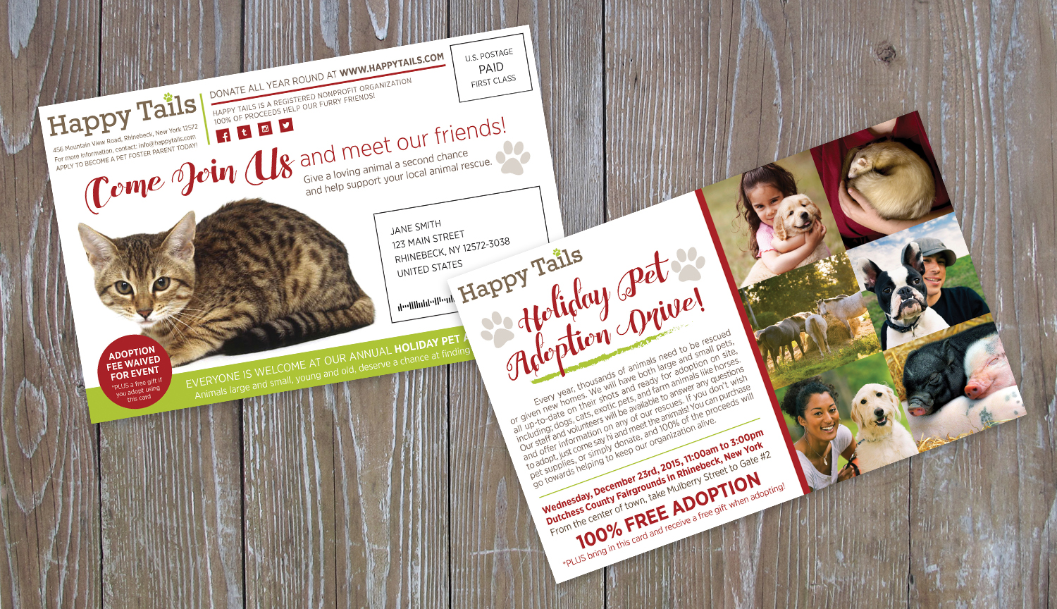 Two Sided Direct Mail Postcard
