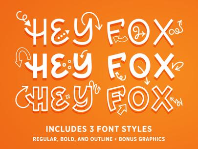 Hey Fox Font Trio