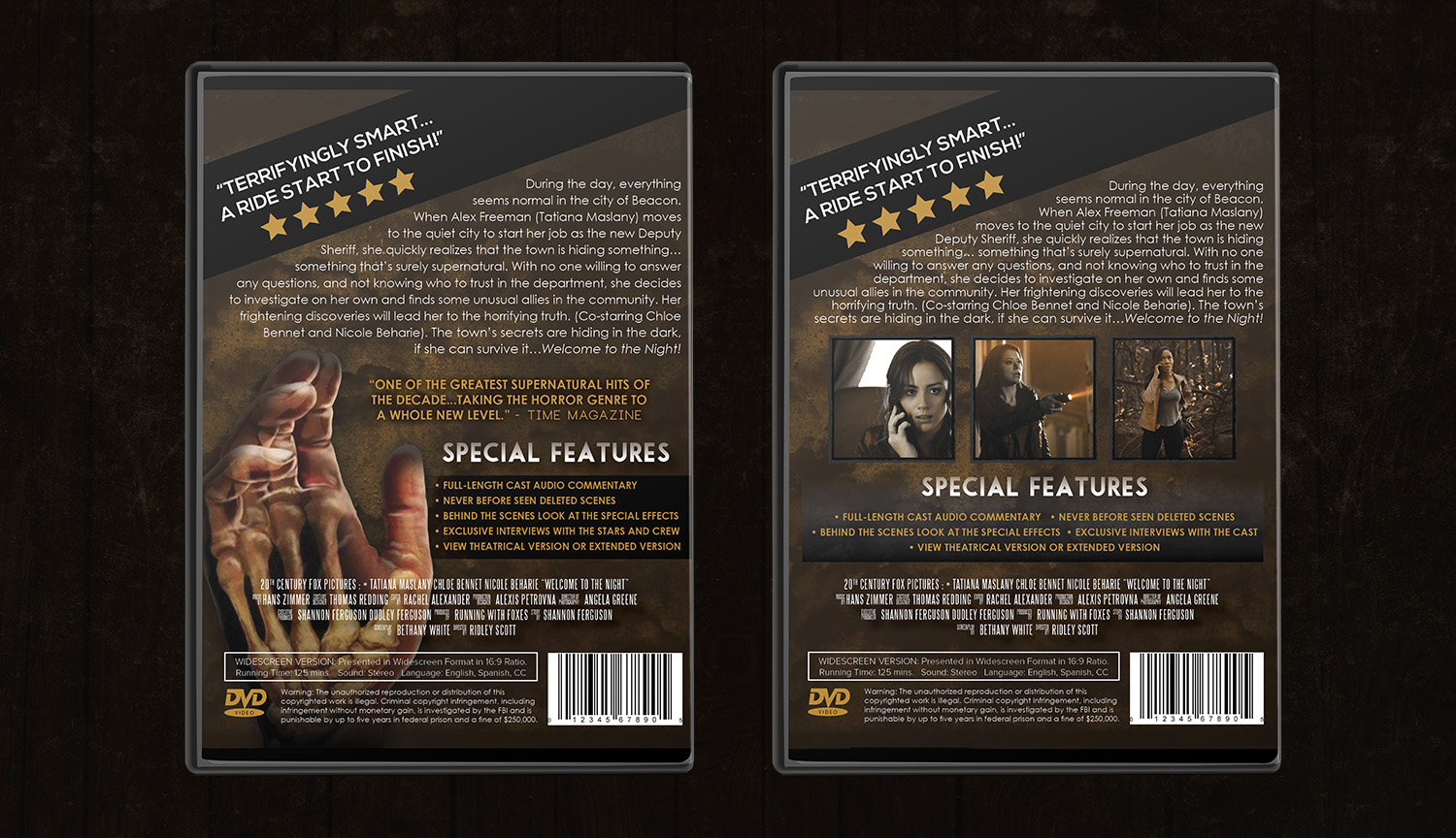 DVD Back Side Design & Alternate