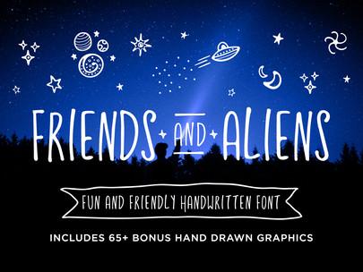 Friends & Aliens Font