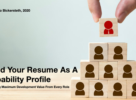 Build Your Resume as a Capability Profile