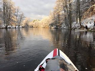Žiemiška ekspedicija irklentėmis upe