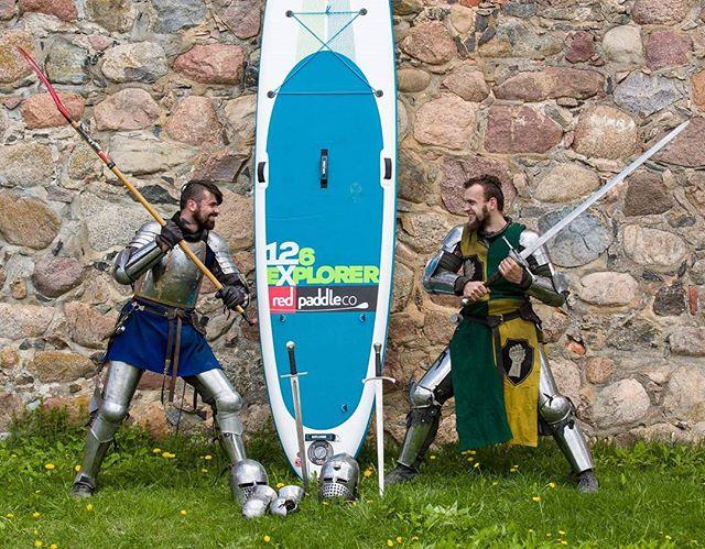 Explore history in SUP way ;) #varomsupint #trakai #lithuania #sup #explore #knights #fun #standuppa