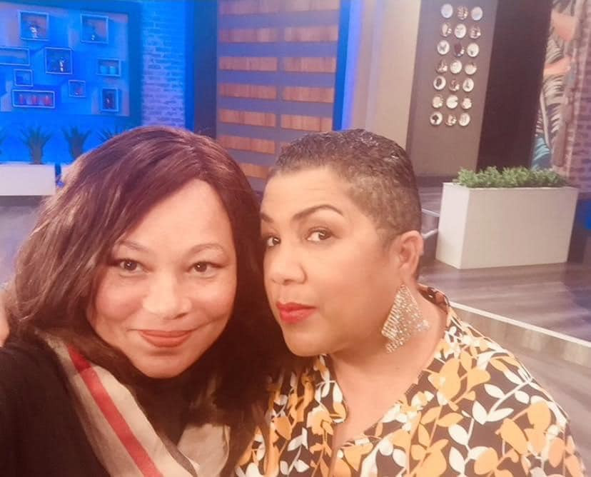 Ruby Marks with media personality Ingrid Jones