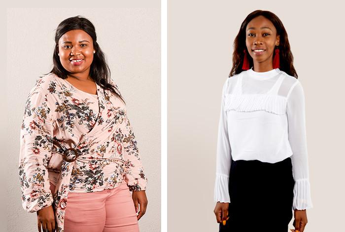 Modiehi Mokoena left and Thandi Batyi right
