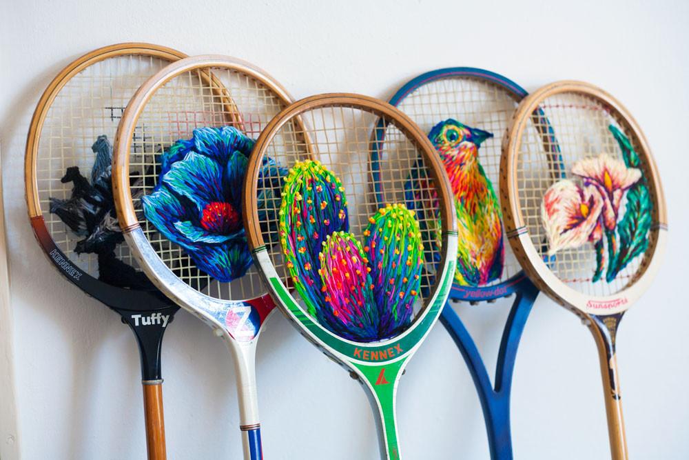Racket embroidery Mosadi