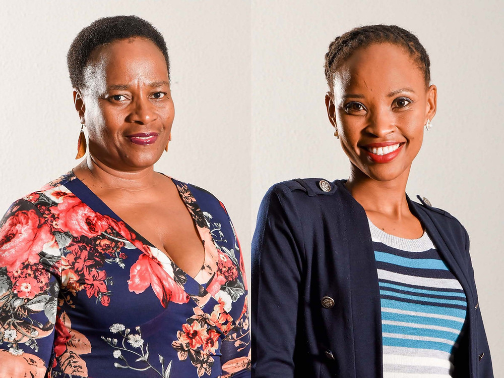 Josephine Phologane and Oratilwe Nameng Mosadi