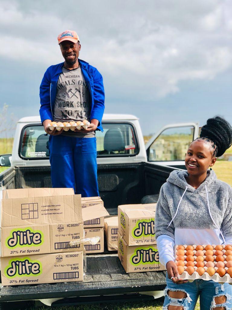 Njabulo with her colleague Sibusiso Xaba