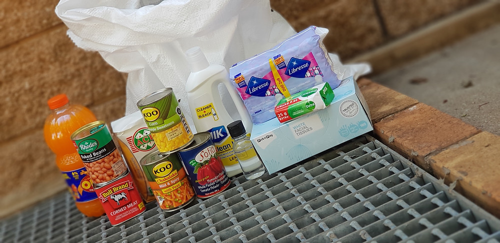 Tomorrow Trust food and hygiene packs