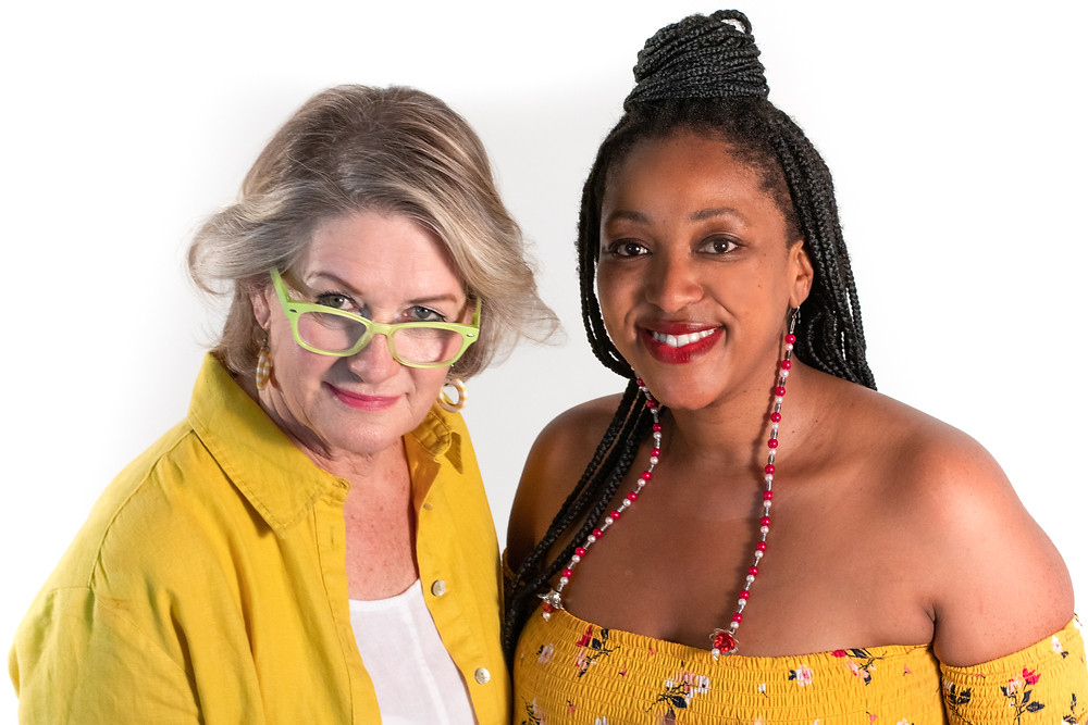 The #GiveHerACrown curators Teresa Lizamore and Phumzile Nombuso Twala