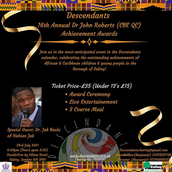 16th Annual Dr John Roberts CBE QC Achievement Award Ceremony