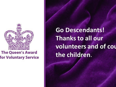 Descendants receive the Queen's Award for Voluntary Service!