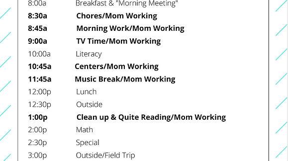 Walking through a schedule