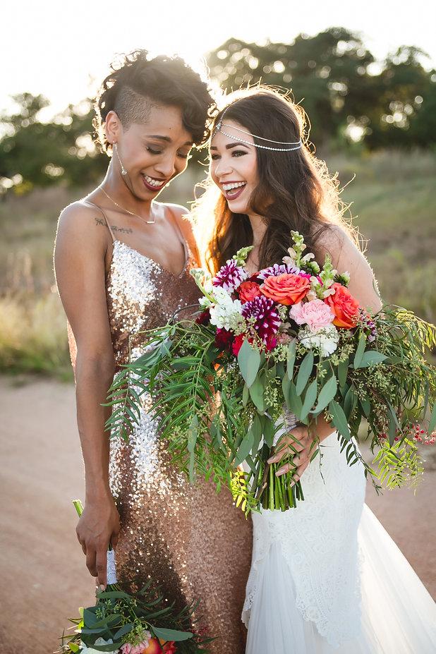 Two brides at an Austin Wedding Venue