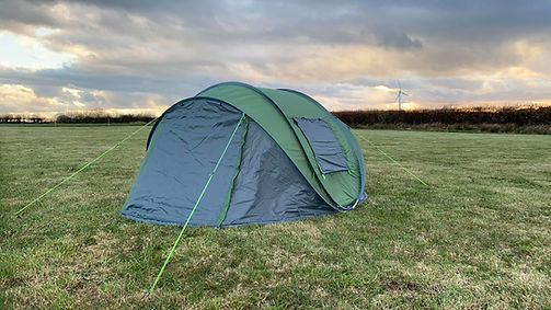 camping pitches with beautiful views