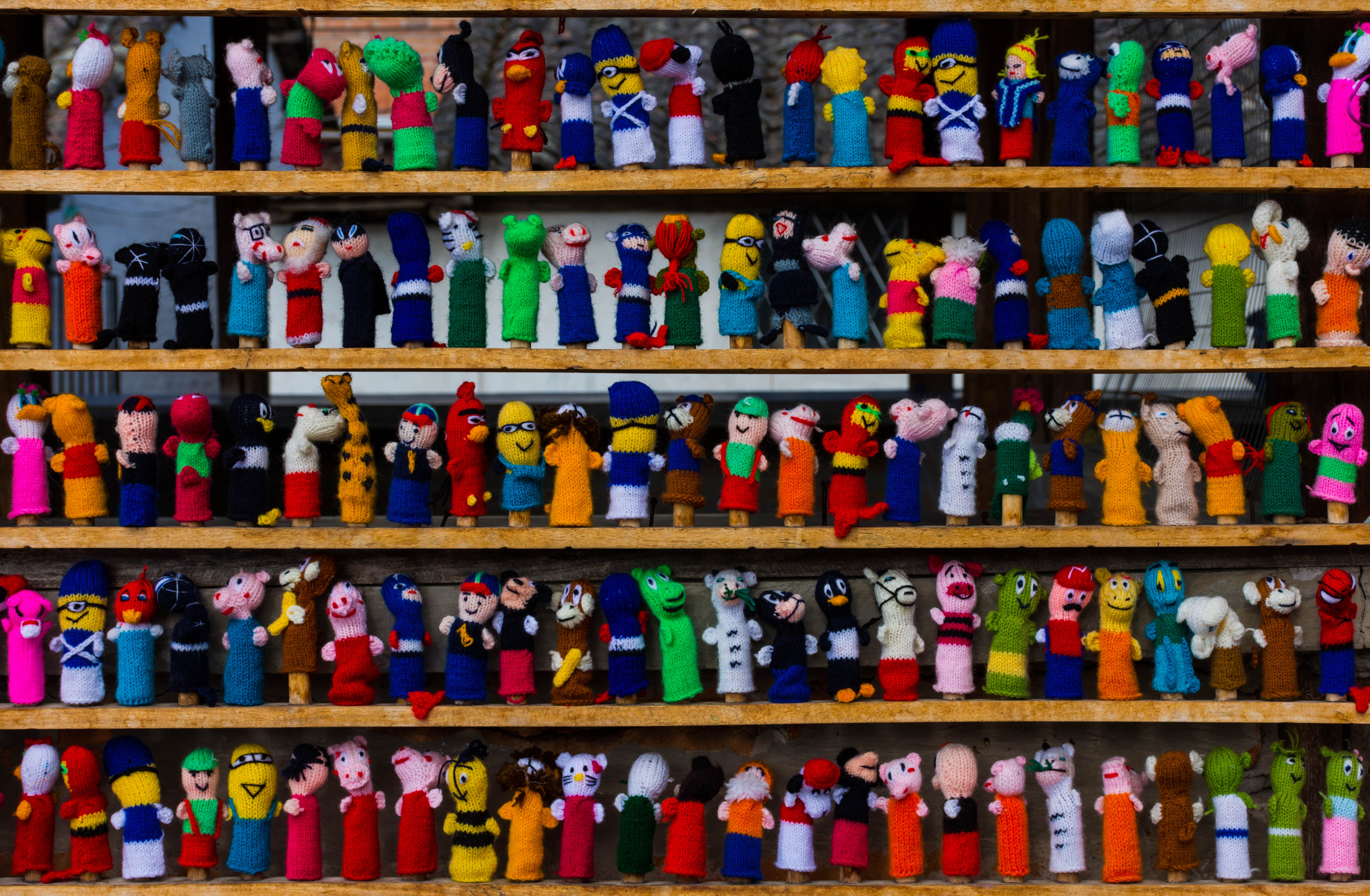 Otavato Market Finger Puppets by Rick Trevino