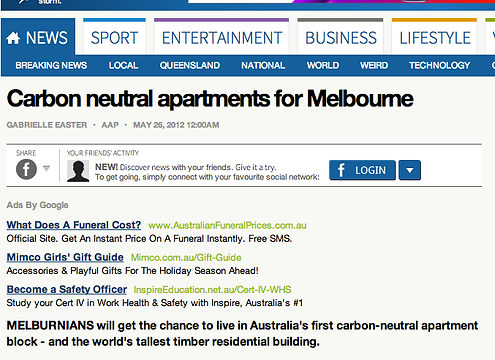 Gabrielle easter melbourne freelance journalist my skills carbon neutral apartments for melbourne negle Choice Image