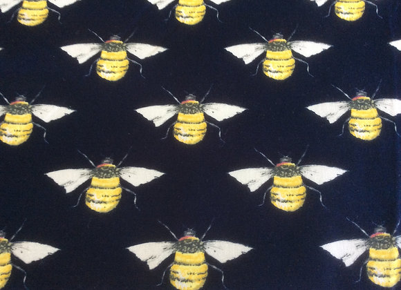 Bees   navy background