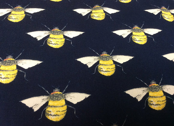 Bees on a navy background