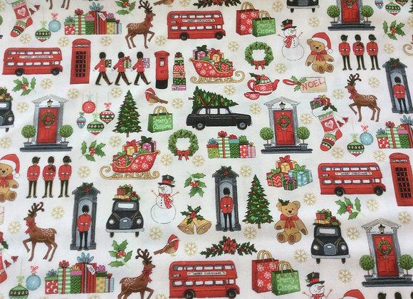 London Christmas Fabric