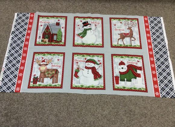 Snow Merry Christmas Panel