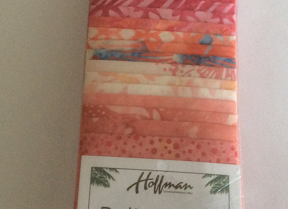 Hoffman Bali Poppy   Blossom  Batiks