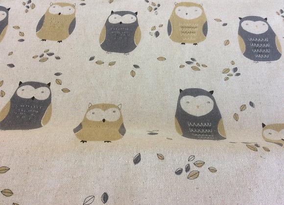 Cotton Canvas  Owls