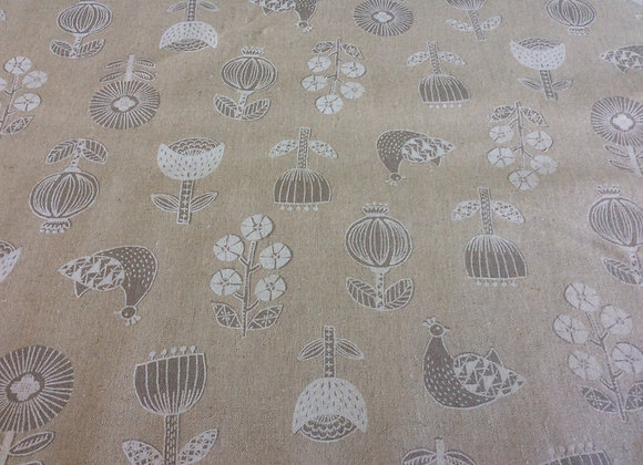 Cotton Canvas  Flowers and Birds