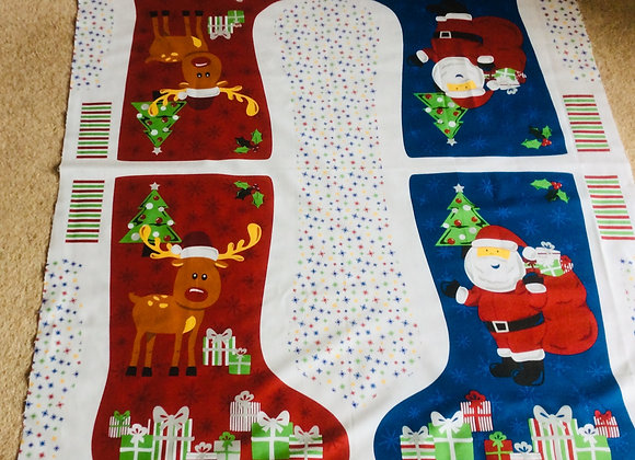 Large Christmas Stocking Panel by Nutex