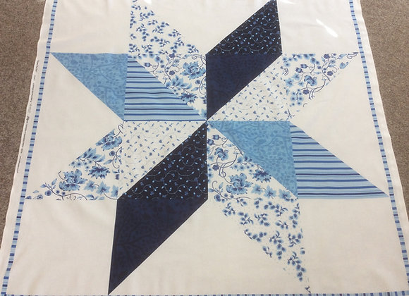 Large Star panel  Blue and White