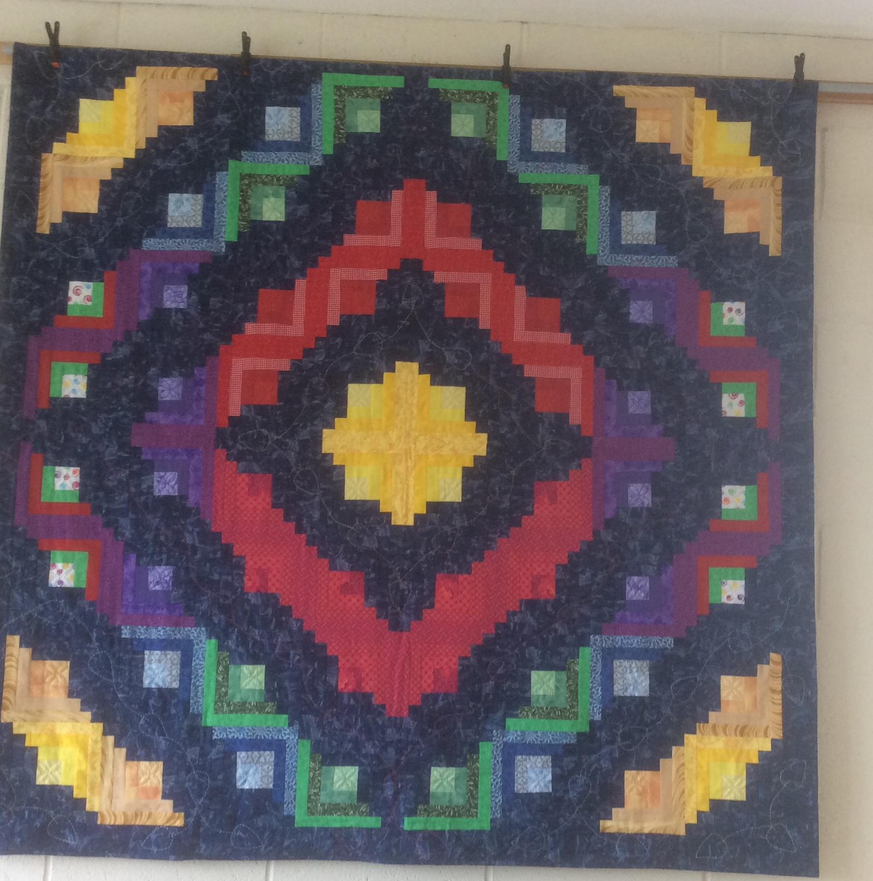 Kath  S  log cabin quilt