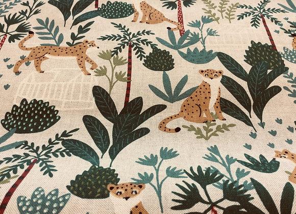Cotton Canvas  Jungle/Leopard