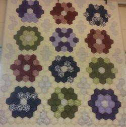 Mary's hexagon quilt