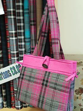 Pink tartan bag