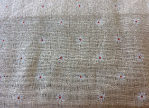 Beige Cotton Canvas with daisy design