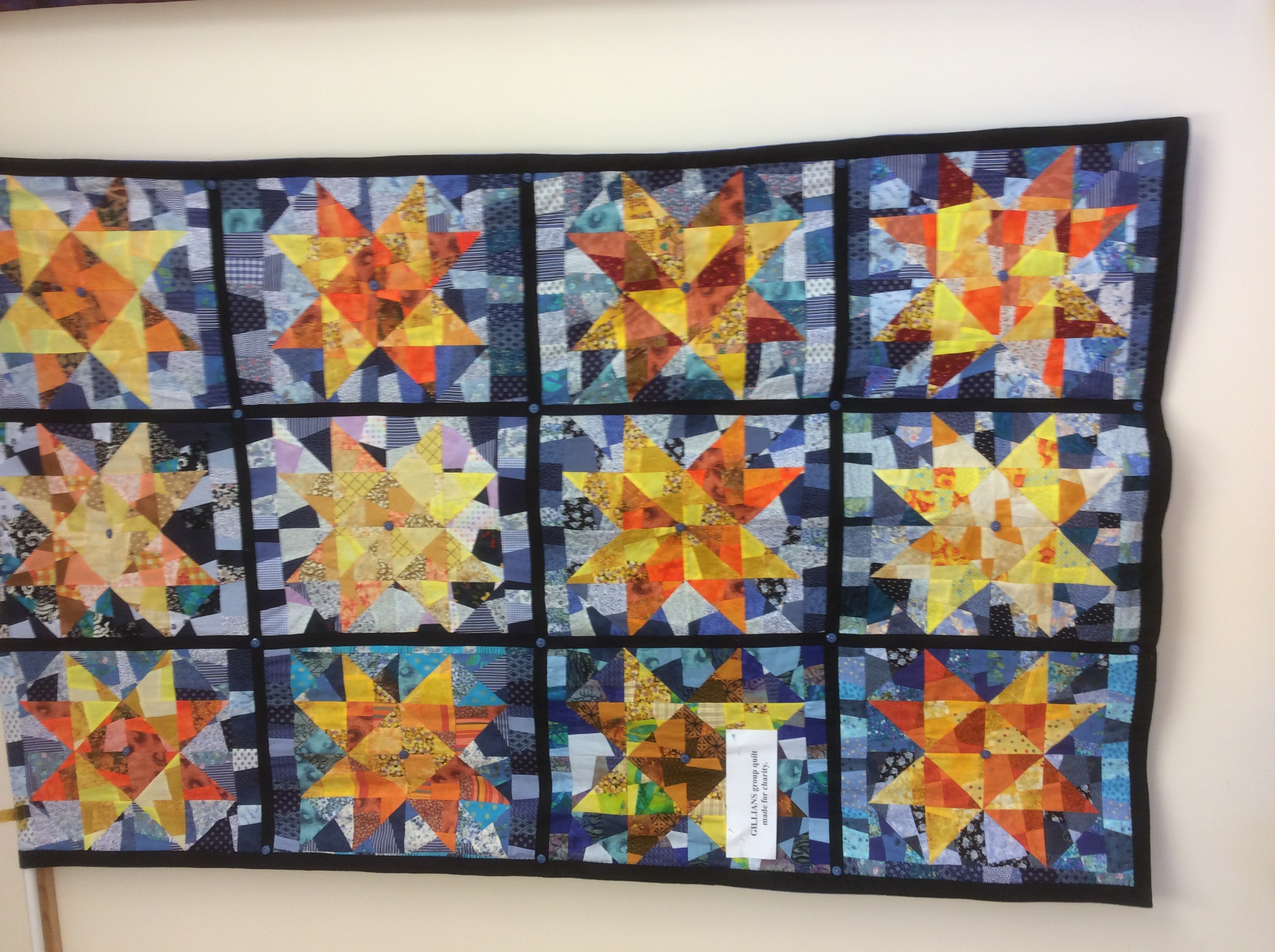 Gillians group quilt for charity