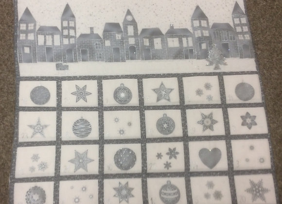 silver and white advent cal