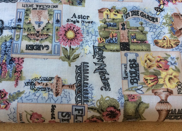 Cotton Canvas  Garden Theme