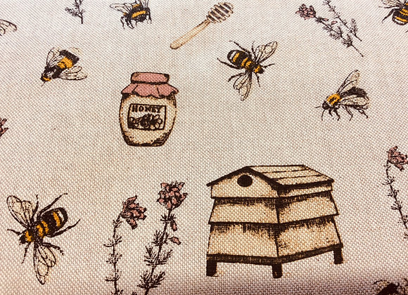 Cotton Canvas Honey Pots and Bees  BACK IN STOCK