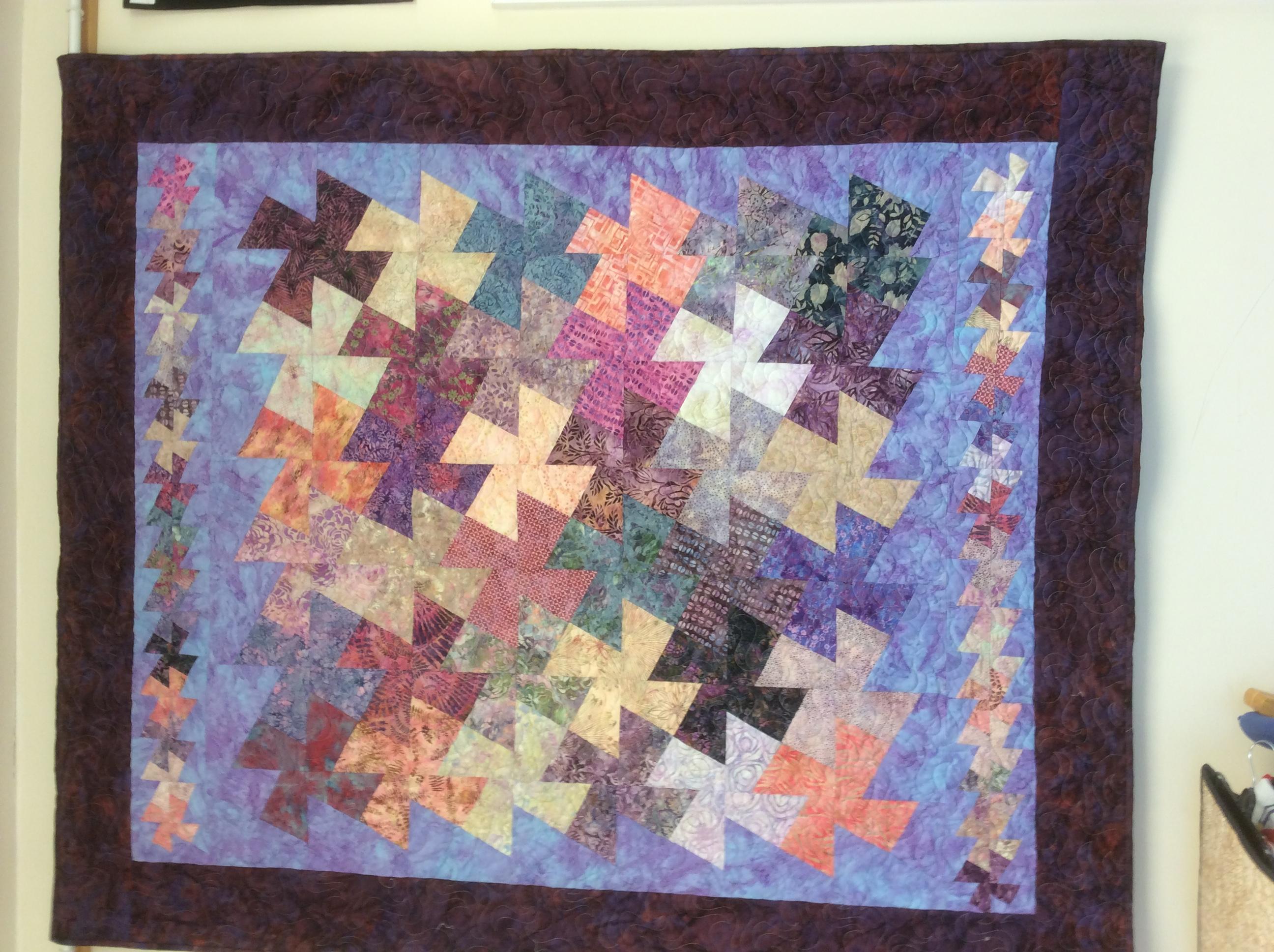 Helen's Pin  twister quilt